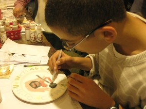 One of the kids who were at the Comics on Ceramics event